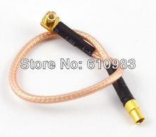 Free shipping (5pieces\lot) MCX Plug male right angle to MMCX Jack female connector Extension cord RG316 pigtail cable 15CM(China)