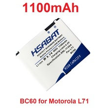 HSABAT 1100mAh BC60 Battery for Motorola L7 A1600 L72 E8 L71 C261 EM30(China)