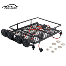 1:10 Roof Luggage Rack LED Light Bar 513B For Wrangler RC Car Tamiya SCX10 CC01