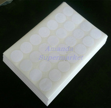 25 Sheets A4 Self-adhesive Sticker 40 mm x 40mm Round  Label Sticker Glossy Surface For Laser Printer Accept Custom Order
