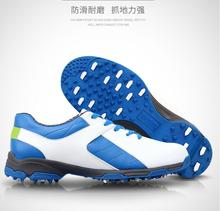 Ultra-light ultra-soft PGM golf shoes anti-skid patent men's breathable shoes ultra-waterproof shoes(China)