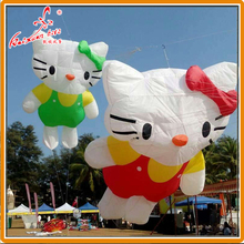 150*350cm Kitty Cat Line Laundry, inflatable show kite from Weifang kaixuan kite factory(China)