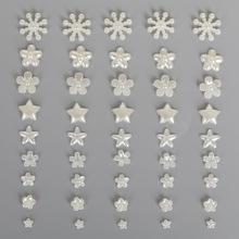 Best Selling Flower/Star/Snowflake Flat Back Cabochon Imitation Plastic ABS Pearl Beads For DIY Jewelry Handmade Craft Making(China)