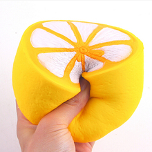 JETTING Jumbo Squishy Lemon Phone Strap Soft Kawaii Cute Fruit Slow Rising Decoration Charm Scented Bread Cake Kid Toy Gift 11CM(China)
