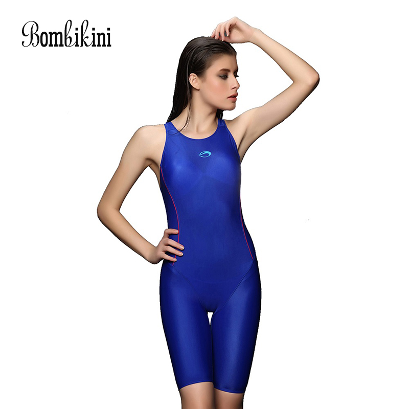 Body Suits Long Boyshorts Sports Women Swimsuit Back X Cross Swimwear L-3XL
