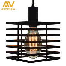 LOFT pendant light Bar restaurant aisle stairs personality wrought iron hanging lamp suspension luminaire vintage Lamps lighting