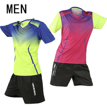 New tennis suit (shirt + shorts), short sleeve summer badminton suit, sweat set, quick drying, men / women training, competition(China)