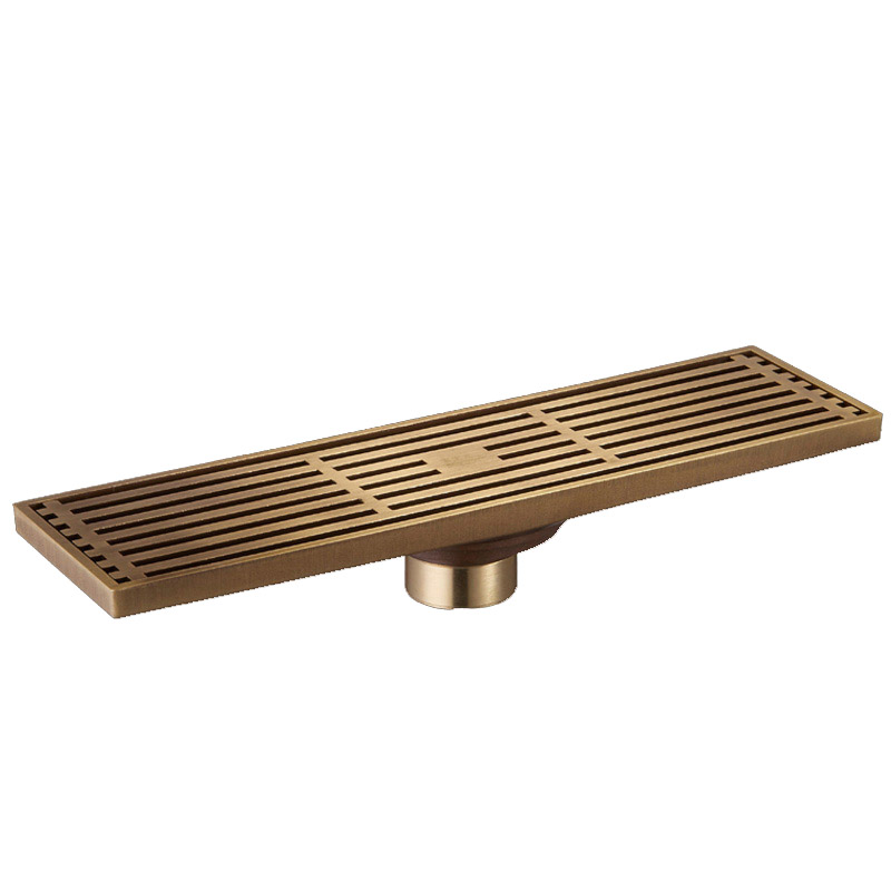 Limited Ralo De Banheiro Deshumidificador Antique Brass Bathroom Linear Shower Drain Floor Trap Waste Grate Wire Strainer <br>