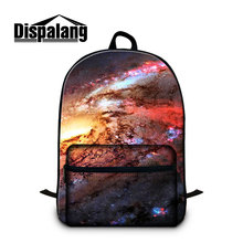 Dispalang newest name brand backpack large laptop bag for college student teenager's book bags print starry sky on schoolbag boy(China)