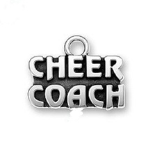 20PCS Ancient Silver CHEER COACH Charm Dangle Jewelry Diy 2017 Floating Locket Necklace Jewelry