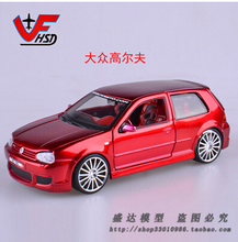 Hot sale  Maisto 1:24 Volkswagen Golf Third generation Alloy car models Fast and Furious Vintage cars Classic Car Toys for boys