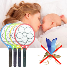 Portable Electronic Mosquito Swatter Insect Pest Fly Catcher Rechargeable Mosquito Killer Pest Repellent Color Random Home Use