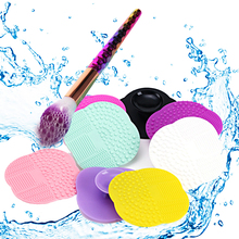 LNRRABC Makeup Brush Cleaner Pad Scrubber Board Silicone Washing Sucker Cosmetic Scrubber Mat Pad Hand Tool