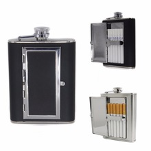 Mayitr Portable Stainless Steel Liquor Wine Alcohol Flagon Hip Flask Cigarette Case Whiskey Bottle For Drinkware(China)