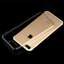 Transparent Simple Style Soft TPU Silicone Protective Phone Back Cover For iPhone 5 5S SE 5C 6 6S Plus 7 Plus iPod touch 5/6