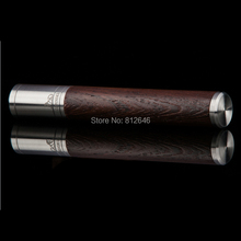 LUBINSKI Silver Wenge Stainless Steel Metal + Wood High Quality Cigar Tube Case Mini Humidor Practical Smoking Gadgets