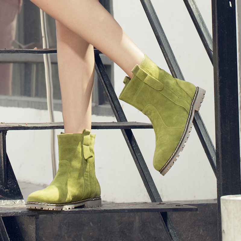 Casual Martin Women Fur Inside Boots Shoes Women Plus Size 34-43<br><br>Aliexpress