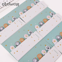 3PCS DIY Mini Cute Kawaii Cartoon 5 Colors Animal Memo Pad Cat Paw Post It Notes Paper Stickers Korean Stationery(China)