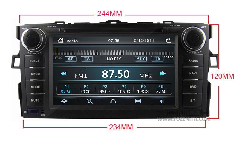 toyota auris corolla hatchback android car dvd radio 2 din (4) -