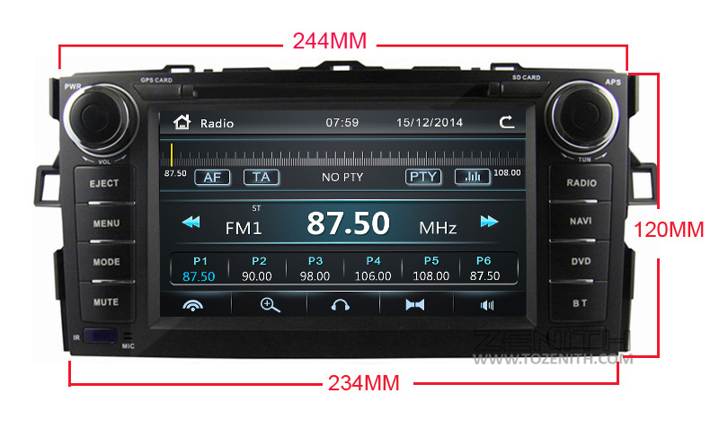 toyota auris corolla hatchback android car dvd radio 2 din (4) -