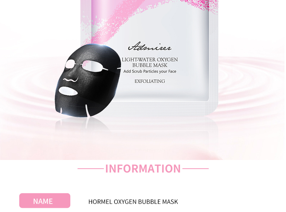 HEMEIEL Detox Oxygen Bubble Sheet Mask Korean Cosmetic Moisturizing Bamboo Charcoal Black Face Mask Facial Whitening Skin Care 2