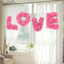 LOVE wedding Setting wall decoration flower Store window decoration items artificial rose flower