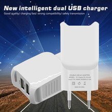 5V 2A double USB Charger Adapter for iphone 5 5s 6s 7 ipad for samsung s5 s7 s8 a3 a5 a7 j5 j7 huawei p9 p10 etc all smartphone
