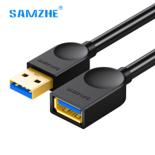 SAMZHE USB 3.0 Cable Super Speed USB Extension Cable AM/AF Male to Female 1m 1.5m 2m 3m USB Data Sync Transfer Extender Cable(China)