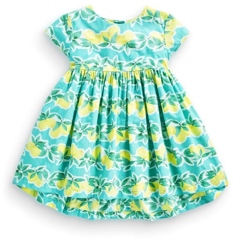 Summer Kid Girl Dress Princess Dress Girls Clothes Leaf Kids Dresses<br><br>Aliexpress