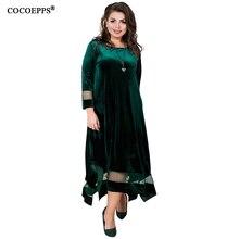57966054a5 Velvet 6XL Maxi Dress Large Size Winter Women Dress 5XL Plus Size Sexy  Evening Party Dress