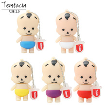 Cartoon Lovely Boy Baby Kid Shape USB Memory Flash Drive 4GB 8GB 16GB 32GB 128GB Thumb Stick Cartoon PenDrive Flash Disk U Disk(China)