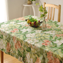 Thick cotton table cloth fresh leaf flower fashion home hotel drape factory outlets American country style(China)