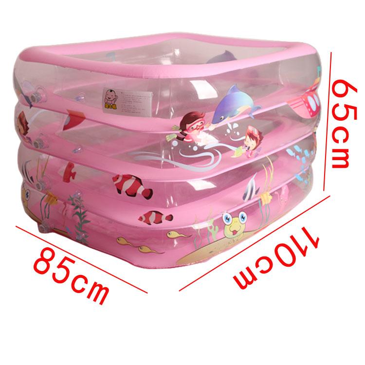 Cartoon-Inflatable-Swimming-Paddling-Pool-110-85-65cm-Baby-Bathroom-Four-Rings-Infant-Battub-Heat-Preservation