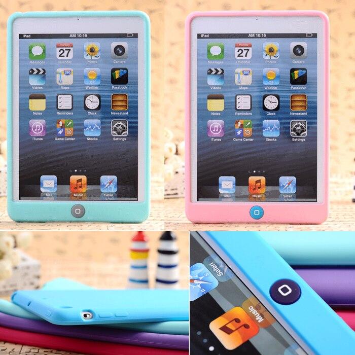 HOT! Luxury fashion original Slim cute cover case for ipad mini 1 mini 2 mini 3 Children Silicone Case <br><br>Aliexpress