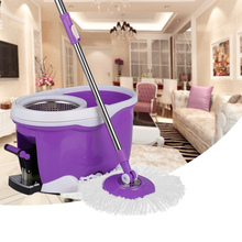 iKayaa Hands-free Stainless Steel 360 Rolling Spin Mop & Bucket Set Foot Pedal Rotating Self-Wring Floor Mop UK Stock