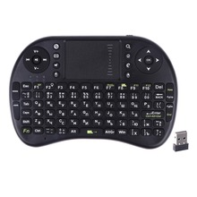 2.4G Mini Wireless Russian Keyboard Mouse Touchpad QWERTY Gaming Teclado Klavye for Computer TV Box/Google TV Box/for HTPC/IPTV