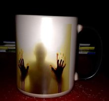 24pcs The Walk Dead Mugs Change Color Ceramic Coffee Tea Mug Cup Heat Sensitive Morphing Zombie Magic Mug