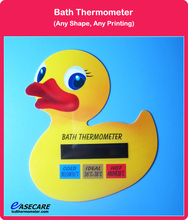 Free Shipping 10pcs/lot Duck Shape Bath Thermometer for Water Temperature