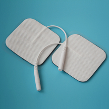 10 Pairs Electrode Pads With Conductive Gel For TENS Unit Size 5*5cm With Plug Hole 2.0mm(China)