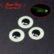 3 Sizes 3mm/5mm/7mm 3D Luminous Fishing Lure Eyes Glow In Dark Flying Tying Material Jigs Crafts Dolls for Nymphal Flies Night(China)