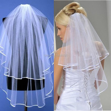 Ivory Luxury Wealthy Bridal Veil Two Layers Wedding Accessories Wedding Head Veils 2015 Best Selling