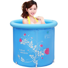 YST Shu Kang folding barrel plastic inflatable adult children's bath tub thickening FREE SHIPPING(China)