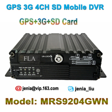 H.264 GPS 3G(WCDMA) 4Ch SD card mobile Bus Taxi Car DVR AHD Camera Recorder (GPS+3G.CDMA+SD Card) with free CMS/IVMS software