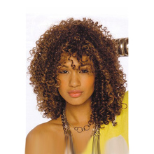 "18"" Cheap Afro Long Kinky Curly Wig African American Wig For Black Women Cheap Realistic Synthetic Hair  Natural Wigs"