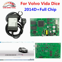 High Quality For Volvo Vida Dice 2014D Full Chip Auto Car Diagnostic Tool For Volvo Dice Pro Vida Dice Green Board Free Ship
