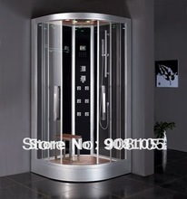 Luxury tempered glass back panels sliding doors jetted massage walking in steam sauna bathromm shower enclosure cabin CE ETL