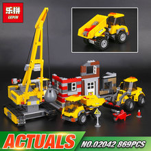 Lepin 02042 Genuine 869Pcs The Demolition Site Set 60076 Building Blocks Bricks Educational Toys As Kid`s Birthday Funny Gifts