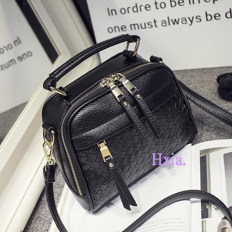 Free shipping, 2017 new handbags, fashion woven handbag, Korean version shoulder bag, large capacity woman messenger bag.<br><br>Aliexpress