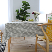 table cloth coffee tea table cloth grey arrow geometric christmas linen cotton home hotel shop japen europe deal free shipping(China)