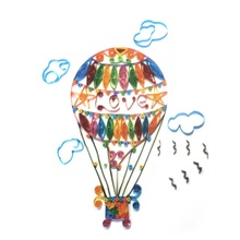 3D Hot Air Balloon DIY Paper Quilling Folded Craft Painting Art Papermaker Nice Display for Kids' Bed Study Room Intelligent Toy(China)